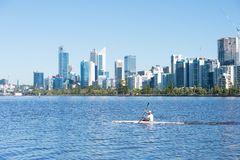 Skyline Perth Western Australia at Swan River Royalty Free Stock Photography
