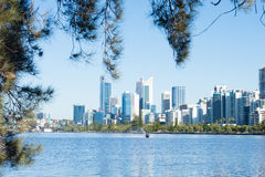 Skyline Perth Western Australia at Swan River Stock Photos
