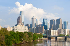 Skyline of Philadelphia downtown Royalty Free Stock Photo