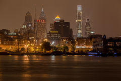 Philadelphia Skyline at Night Royalty Free Stock Image
