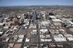Skyline of Phoenix, Arizona Royalty Free Stock Photography