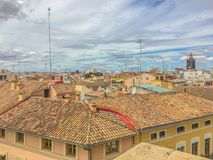 Skyline photo of rooftops of the spanish city Valencia. A skyline photo of rooftops of the spanish city Valencia stock photo