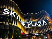 Skyline-Piazza-Einkaufszentrum in Frankfurt am Main Stockbild