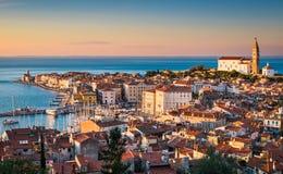 Skyline of Piran, Slovenia Royalty Free Stock Photos