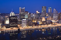 Skyline of Pittsburgh Royalty Free Stock Photo