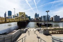 Skyline of Pittsburgh, Pennsylvania from Allegheny Landing from Stock Photography