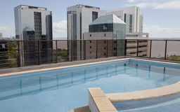 Skyline Pool. Hotel pool on the roof Royalty Free Stock Photo