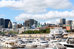 Skyline and Port of Montreal Stock Image