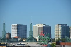 Skyline of Portland, Oregon. This is an image of the skyline of Portland, Oregon on a sunny day Stock Photography