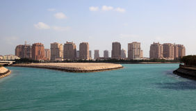 Skyline of Porto Arabia. Doha Royalty Free Stock Photo