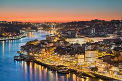 Skyline of Porto, Portugal stock photography