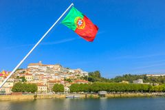 Skyline Portugal de Coimbra foto de stock royalty free