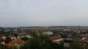 Skyline of Prag. Old architecture, city Royalty Free Stock Photo