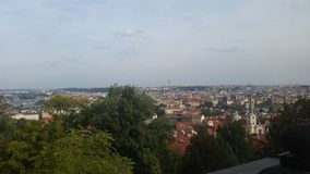 Skyline of Prague. Beautiful old buildings in prag Royalty Free Stock Images