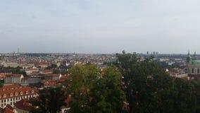 Skyline of Prague. Beautiful old buildings in prag Stock Images