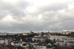 Skyline of Prague in HDR Royalty Free Stock Photo