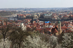 Skyline of Prague in spring Royalty Free Stock Photography