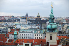 Skyline of Prague town, Czech Republic. Royalty Free Stock Image