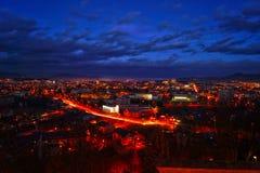 Skyline of Presov, Slovakia. Presov, Slovakia, view from Calvary Royalty Free Stock Photo