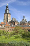 Skyline of protected cityscape, city Zutphen Royalty Free Stock Photos