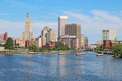 Skyline of Providence, Rhode Island Stock Image