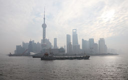 Skyline of Pudong Stock Image