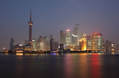 Skyline of Pudong, Shanghai Royalty Free Stock Image