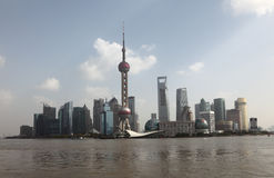 Skyline of Pudong, Shanghai Royalty Free Stock Images