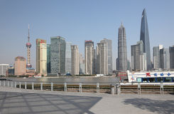 Skyline of Pudong, Shanghai Royalty Free Stock Photos