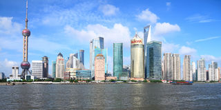 Skyline of Pudong, Shanghai Royalty Free Stock Photography