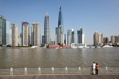 Skyline of Pudong, Shanghai Royalty Free Stock Photo