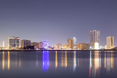 Skyline of Ras al Khaimah at night Stock Photography