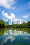 Skyline and reflections of midtown Atlanta, Georgia stock image