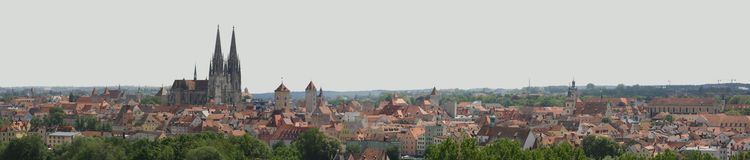 Skyline Regensburg Royalty Free Stock Images