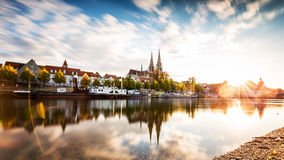 Skyline Regensburg Stock Photography
