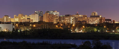 Skyline of Regina, Saskatchewan Royalty Free Stock Photo