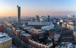 Skyline Reino Unido de Manchester Foto de Stock Royalty Free