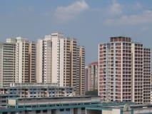 Skyline residencial fotografia de stock