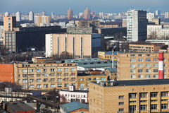 Skyline of residential district in Moscow Royalty Free Stock Images
