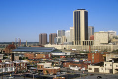 Skyline of Richmond, VA, state capitol Stock Photography