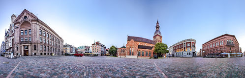 Skyline of Riga old town Stock Photography
