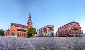 Skyline of Riga old town royalty free stock photography