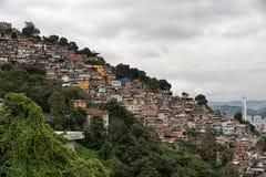 Skyline of Rio de Janeiro Slums on Mountains Royalty Free Stock Photo