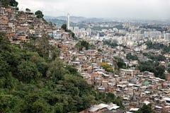 Skyline of Rio de Janeiro Slums on Mountains Stock Photography