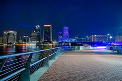 Skyline and river coast scenes in Jacksonville Florida Royalty Free Stock Images