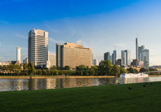 Skyline at the River Main in Frankfurt, Germany Stock Photo