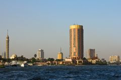 Skyline from river Nile Royalty Free Stock Images
