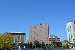 Skyline of Rochester Minnesota Stock Image