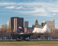 Skyline of Rochester Stock Photo