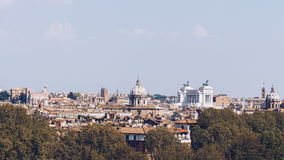 Skyline of Rome, Italy. Panoramic view of Rome architecture and Royalty Free Stock Photo